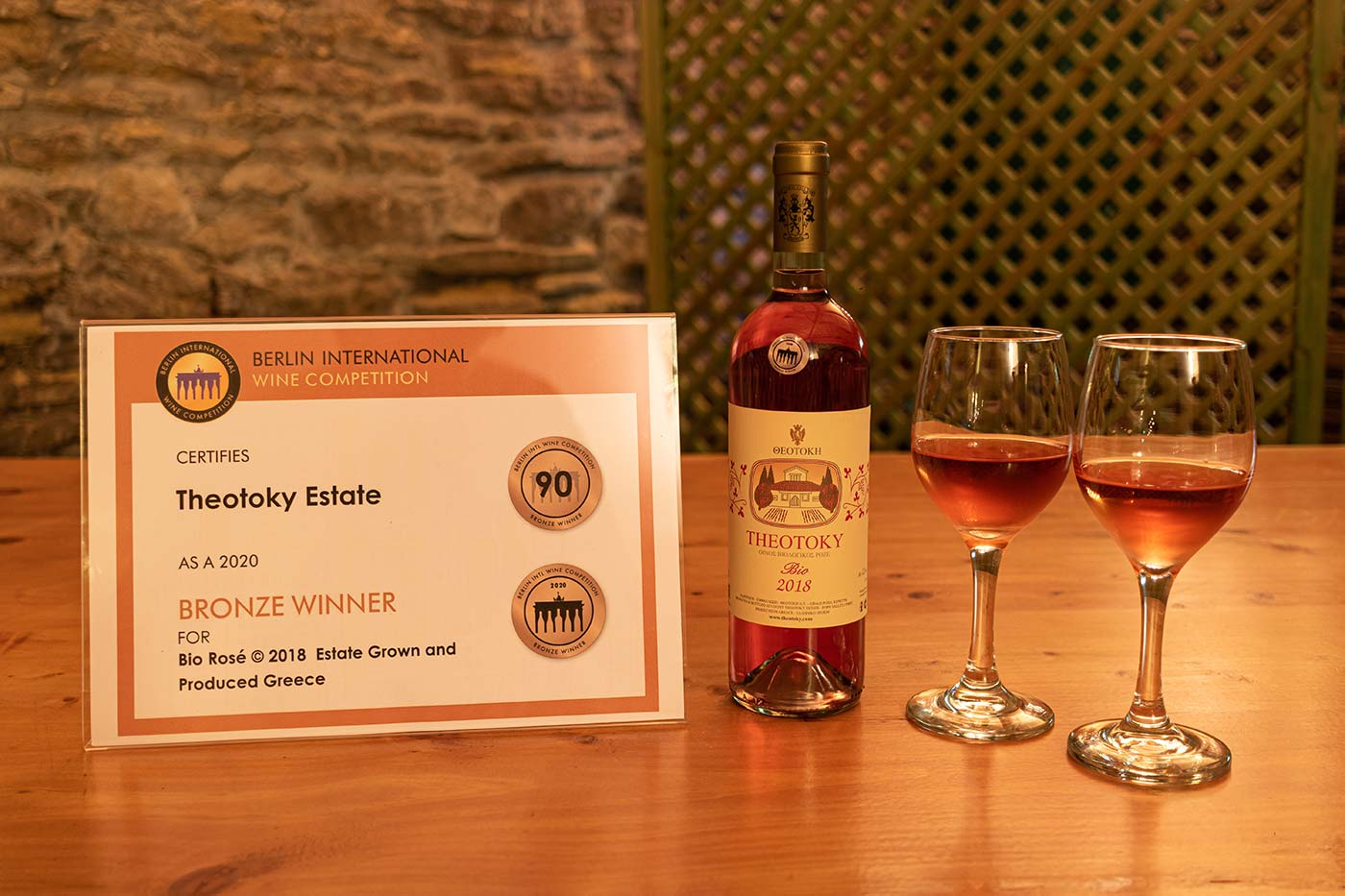 Matching Awarded Wine THEOTOKY Rosé 2018 | SYRAH
